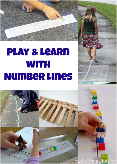 Play and learn with these fun number line activities for kids. You'll move, use your fine motor skills, play math games and more fun ideas.