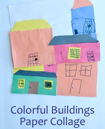 Colorful Buildings Paper Collages: Exploring Argentina Through Art