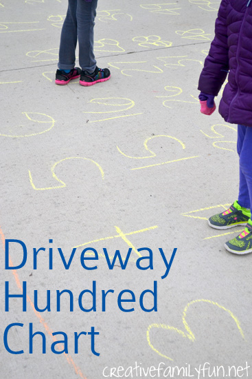 Take math outside and have some fun with this Driveway Hundred Chart Game. Your kids will be moving, learning, and having tons of fun.