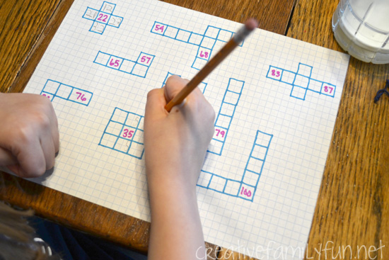 Try filling in a small snippet of a hundred chart with these easy to make Fill-In-The-Blank Hundred Chart Puzzles for a little extra math practice at home.