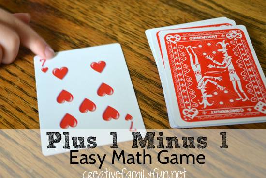 Practice your plus 1 minus 1 math facts with this fun math card game. It's a great way to practice math at home with your kids.