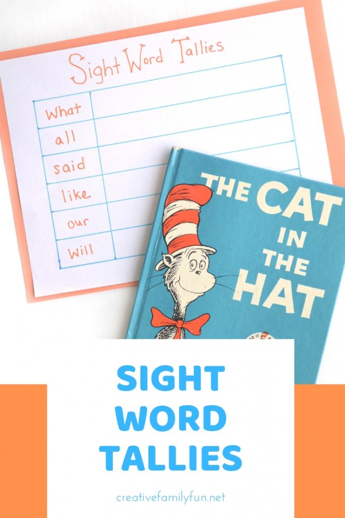 Learn sight words with this fun reading game that adds a little math in with your reading practice with this Find and Tally Sight Words activity.
