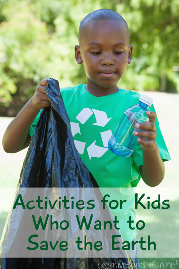 Recycle, reuse, and learn with these fun activities for kids who want to save the earth. These ideas are fun for elementary kids, tweens, and their families.