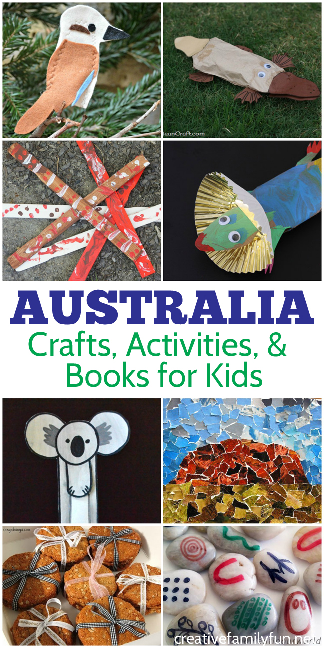 Australia activities for kids crafts books and fun creative learn all about australian landmarks culture and food through crafts activities and forumfinder Images