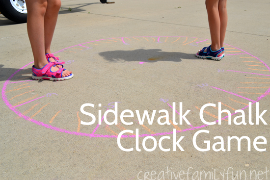 Sidewalk Chalk Outdoor Clock Game