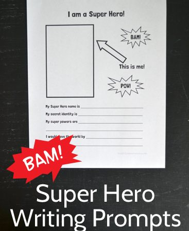 I Am a Super Hero! Writing Prompt