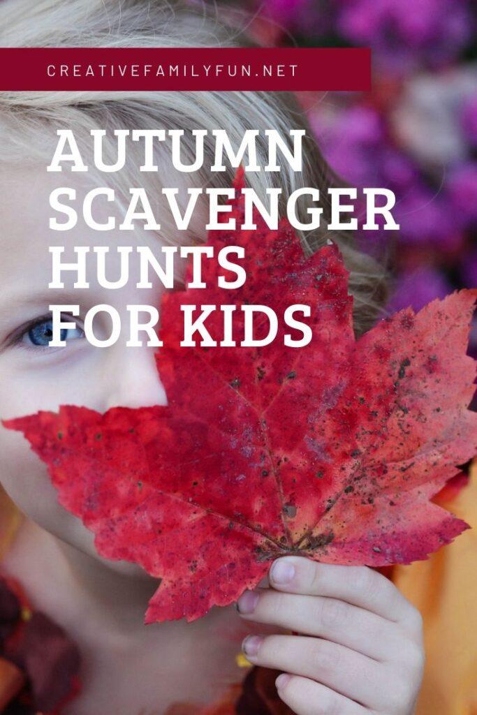 Fun autumn scavenger hunts for kids