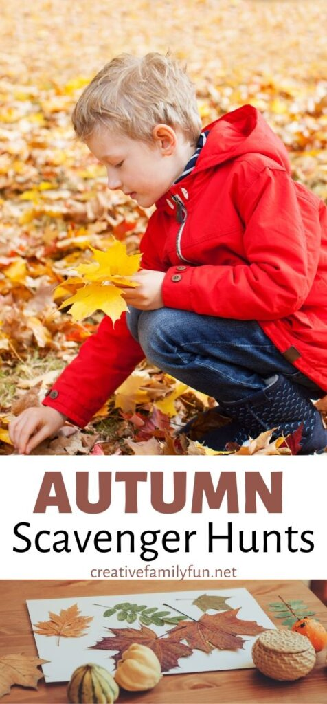 Enjoy the outdoors this fall with one of these fun Autumn Scavenger Hunts for kids. Your family will have so much fun exploring fall treasures.