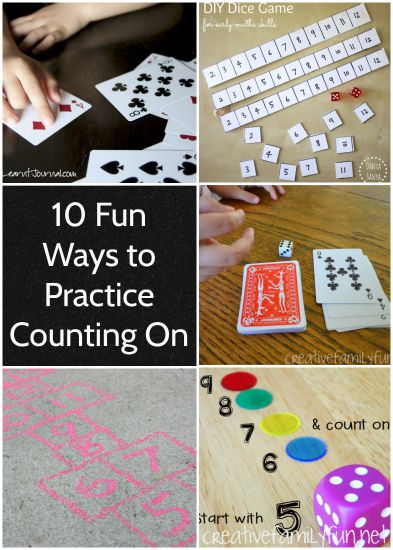 It's so easy to practice counting on with your kids especially if you try one of these fun math games and activities that are perfect for school or home.