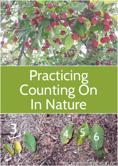 You can practice counting on anywhere, even outside. Here are some fun ideas to practice this math concept outside in nature.