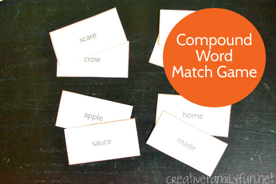 Scarecrow Compound Word Match Game