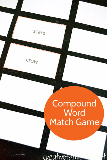 Play this printable match game to combine different fall words to make a compound word match game. It's a fun and easy reading game for your second grader.