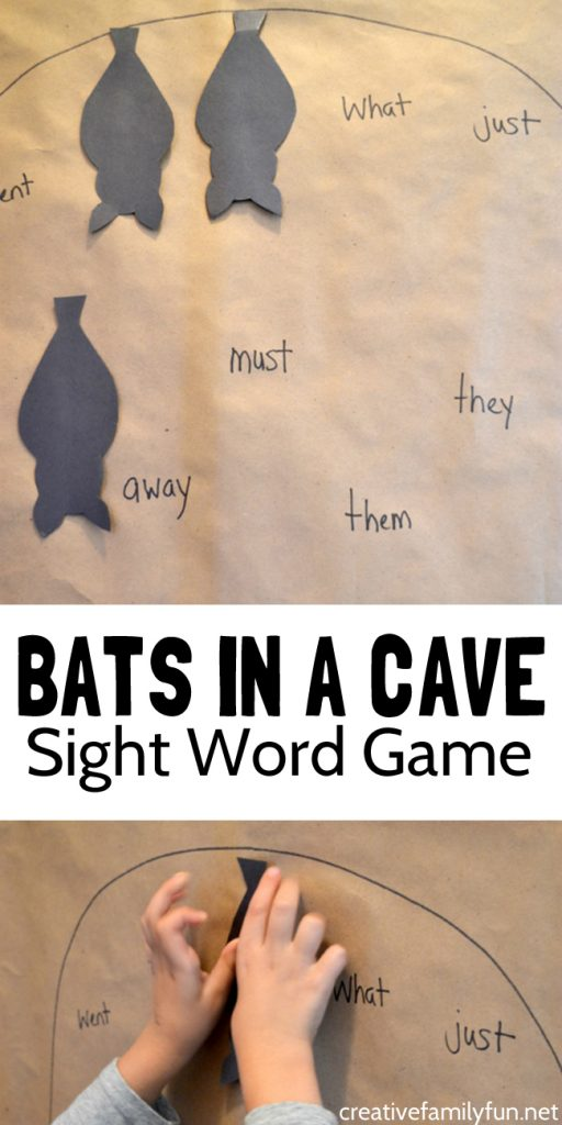 Have some fun practicing sight words with this Bat Sight Word Game when you put all your sleeping bats in their sight word cave.