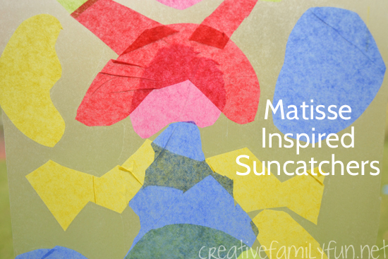 Matisse Craft for Kids: Cut Paper Suncatchers