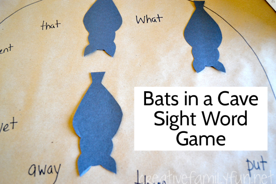 Bats in a Cave Bat Sight Word Game