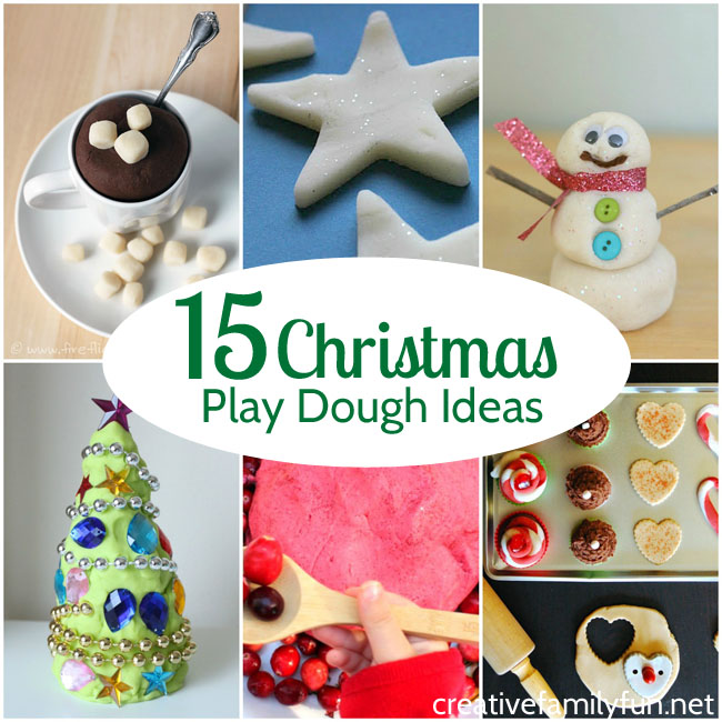 Have some holiday sensory fun with these fun Christmas play dough ideas. You'll enjoy all the scents, colors, and sparkle of the holiday season.
