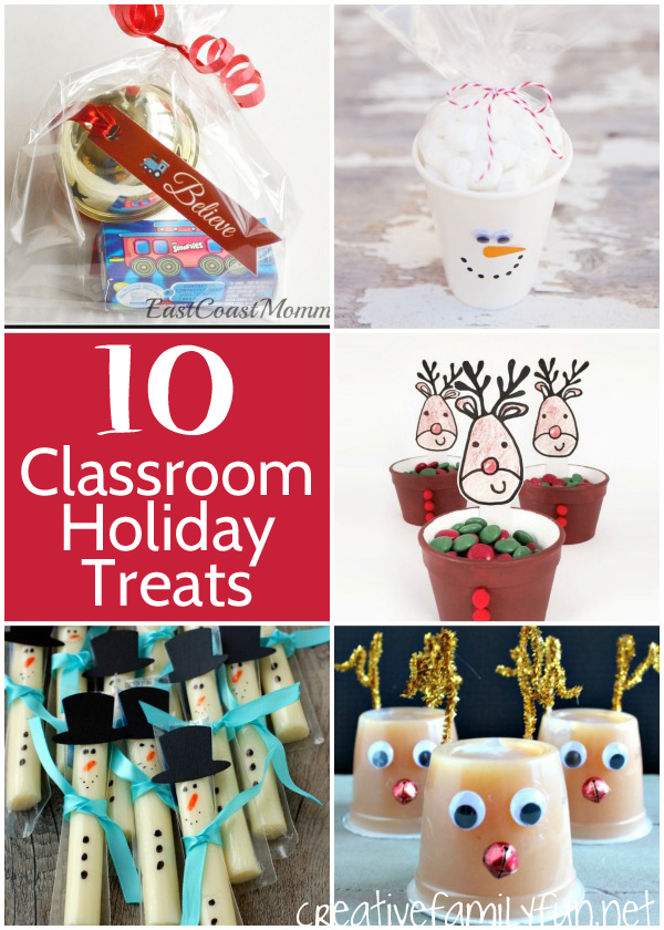 Classroom Birthday Party ~ Holiday classroom treats for school parties creative