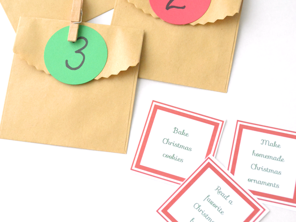 Printable Family Activities Advent Calendar