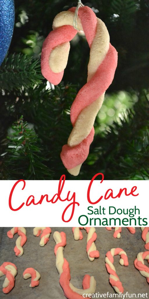 Give your Christmas tree an old-fashioned flair with a Salt Dough Candy Cane Ornament. It's such a fun keepsake ornament your kids will love to make.