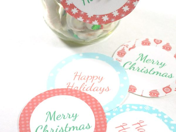 Candy-Coated Pretzels Plus Printable Gift Tags