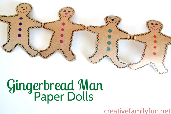 Gingerbread Man Paper Doll Decorations