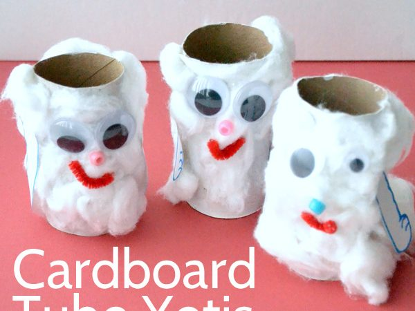 Cardboard Tube Yeti Craft for Kids