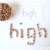 Fun Spelling Practice with Dry Beans