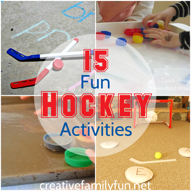 Are your kids crazy about hockey? Here are some great hockey activities for kids that will get them moving, learning, and creating.