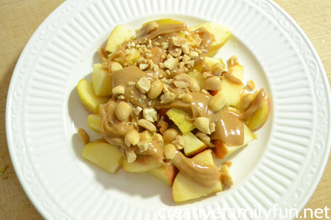 Peanut Butter Honey Apple Snack