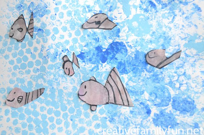 Layered Paper Art Underwater Art Project