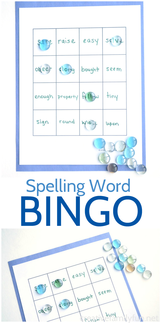bingo word template