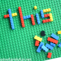 LEGO Spelling Words Activity for Kids