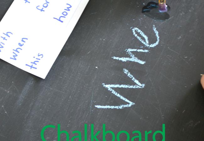 Chalkboard Letter Erase