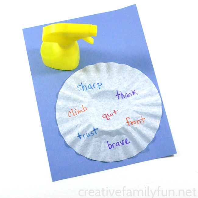 Practice your spelling words and then make them disappear with this fun Disappearing Spelling Words activity. It's such a fun way to practice!