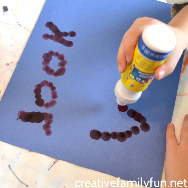 Here's a fun way to practice spelling words, use a fun tool to write your words with this idea, Dot Marker Spelling Words.