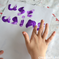 Finger Painting Spelling Words