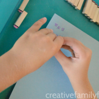 Make Spelling Words with Letter Stamps