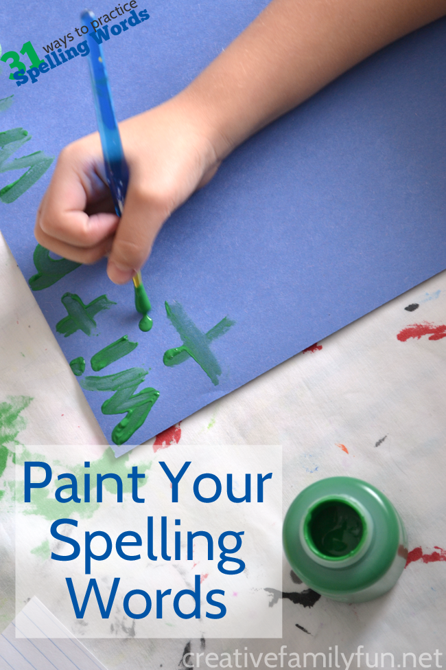 Get A Little Creative When You Practice Spelling Words At Home Grab Some Brushes And