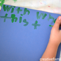 Practice at Home by Painting Spelling Words