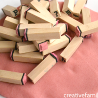 Practice Spelling with Letter Stamps and Play Dough