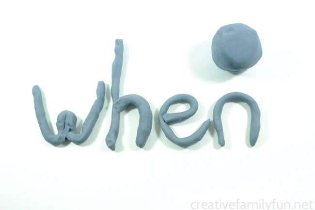 Have fun while practicing spelling when you create Play Dough Spelling Words. It's fun and creative way to do spelling homework.