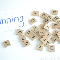 Make Scrabble Tile Spelling Words