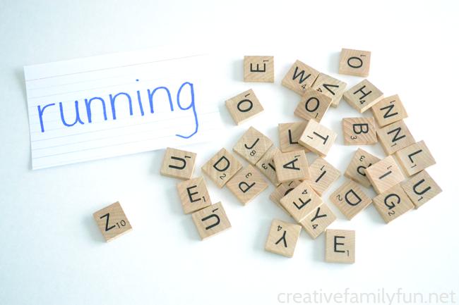 Make Scrabble Tile Spelling Words