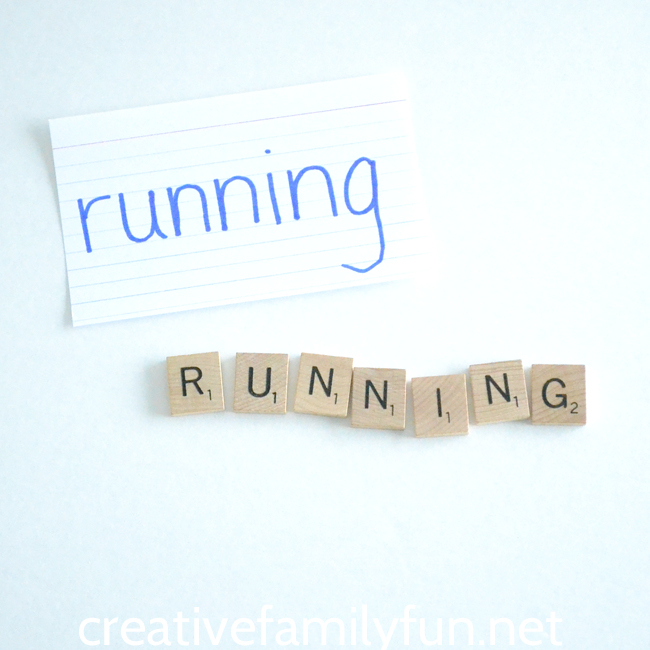 Put away the paper and pencil and hit your board game supply with this fun way to practice spelling words, Scrabble Tile Spelling Words.