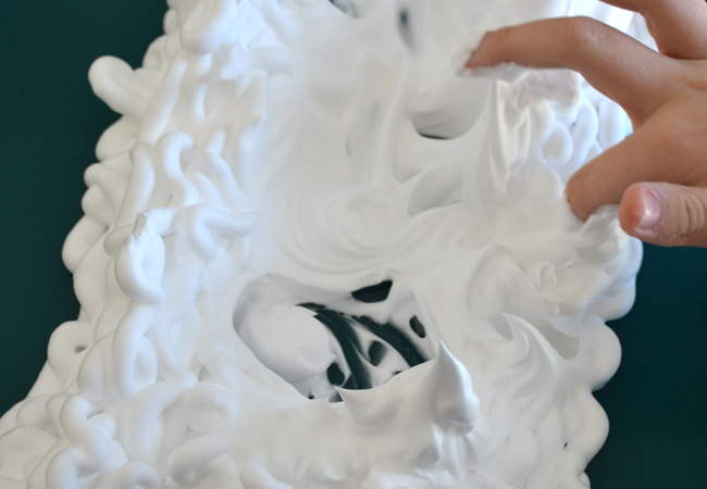 Write Spelling Words in Shaving Cream