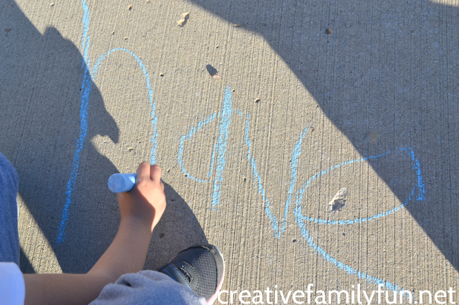 Sidewalk Chalk Spelling Words