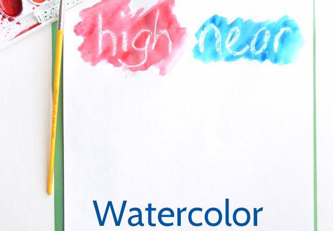 Watercolor Resist Spelling Words