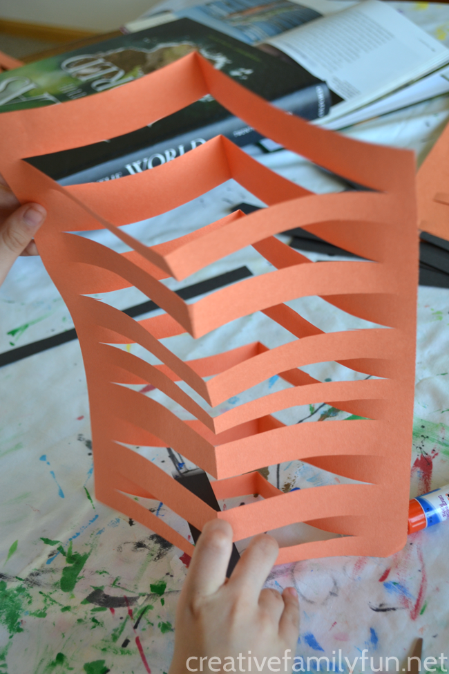 Do a twist on the traditional paper weaving project, by making this 3-D paper weaving sculpture inspired by the country of Bangladesh.