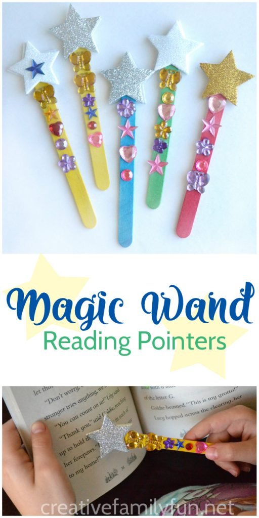 Your new readers will love making their own Magic Wand Reading Pointers that they can use to keep their place while reading. It's an easy way to make reading magical.