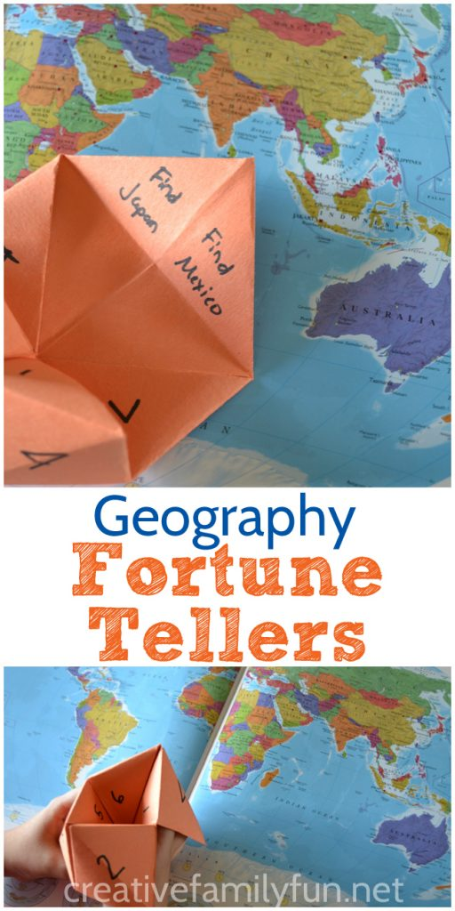 Make Geography Fortune Tellers A Fun Geography Activity To Help Your Child Learn Continents